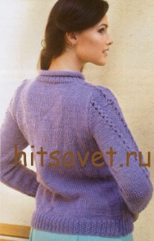 Красивый свитер спицами, фото 2.
