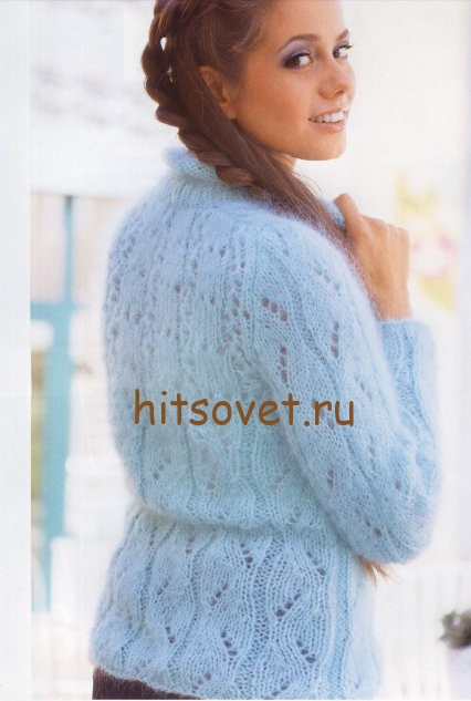 Ажурные женские свитера