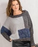 Свободный пуловер спицами описание