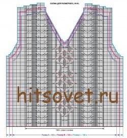 Схема мужского жилета рисунок 2.