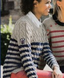 Джемпер с косами женский, фото 1.
