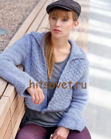 Короткий жакет вязание спицами