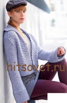 Короткий жакет вязание спицами, фото 2.