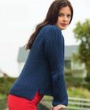 Пуловер реглан резинкой, фото.