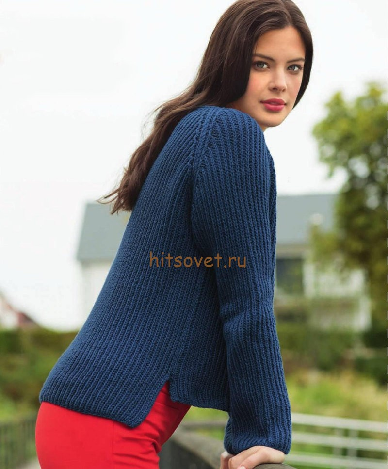 Пуловер реглан резинкой