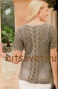Пуловер с узором розочки, фото 2.