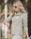 Пуловер женский с косынкой, фото.