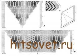Схемы вязания шали, рисунок 2.