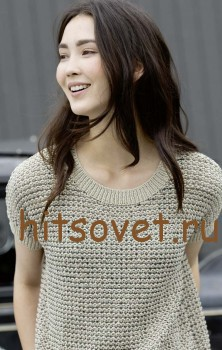 Летний пуловер спицами для женщин, фото 2.