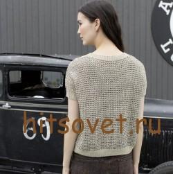 Летний пуловер спицами для женщин, фото 3.