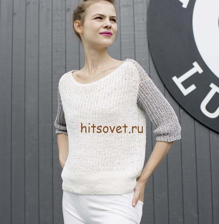 Летний свободный пуловер, фото 1.