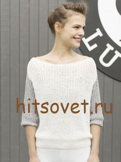 Летний свободный пуловер, фото 2.