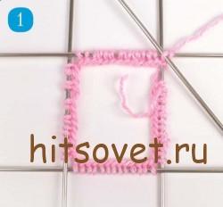 Мастрер класс вязание ажурных носков, шаг 1.