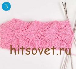 Мастрер класс вязание ажурных носков, шаг 3.
