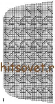 Схема вязания пончо, рисунок 2.