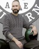 Пуловер мужской спицами, фото 1.