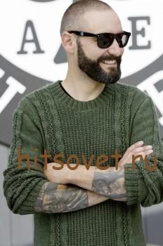 Пуловер мужской вязаный спицами схема, фото 2.