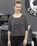 Стильный пуловер спицами, фото 1.
