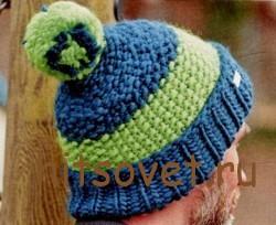 Вязаная шапка мужская, фото 2.