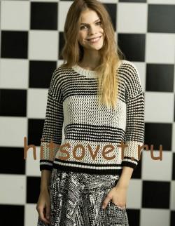 Женский пуловер с удлиненной спинкой, фото 2.