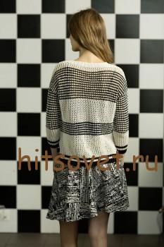 Женский пуловер с удлиненной спинкой, фото 3.