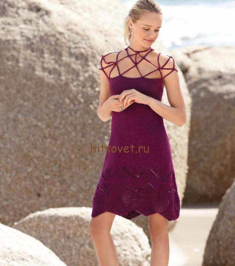 Красивое платье спицами, фото 1.
