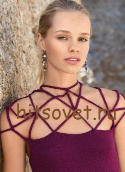 Красивое платье спицами, фото 2.