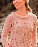 Летний пуловер с косами, фото.