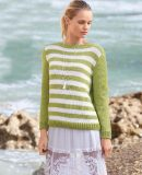 Летний пуловер с вырезом на спине, фото 1.