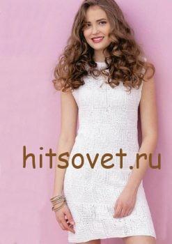 Платье белое крючком