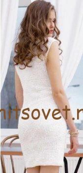 Платье белое крюком, фото 2.