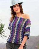 Полосатый летний пуловер, фото.