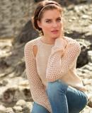 Стильный летний пуловер спицами, фото 1.