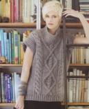 Стильный пуловер с короткими рукавами, фото.