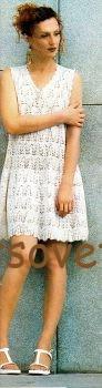 Красивое белое платье крючком, фото 2.