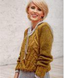 Модный пуловер для девушки, фото.