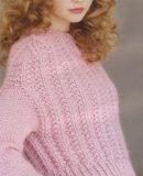 Розовый джемпер граненой резинкой, фото 1.