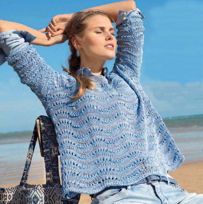 Пуловеры с волнистым узором