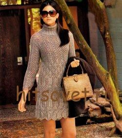 Вязаное мини платье