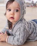Вязаный комплект для малыша с описанием, фото 1.