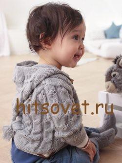 Вязаный комплект для малыша с описанием, фото 2.
