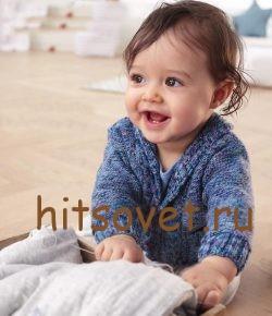 Жакет для малыша спицами, фото 2.