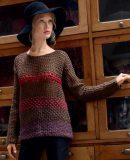 Ажурный пуловер крючком схемы и описание, фото 1.