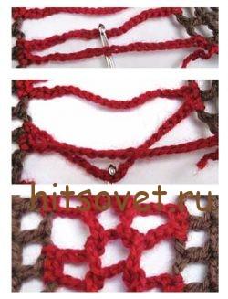 Ажурный пуловер крючком схемы и описание, мастер класс фото 2.