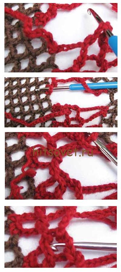 ажурный пуловер крючком схемы и описание