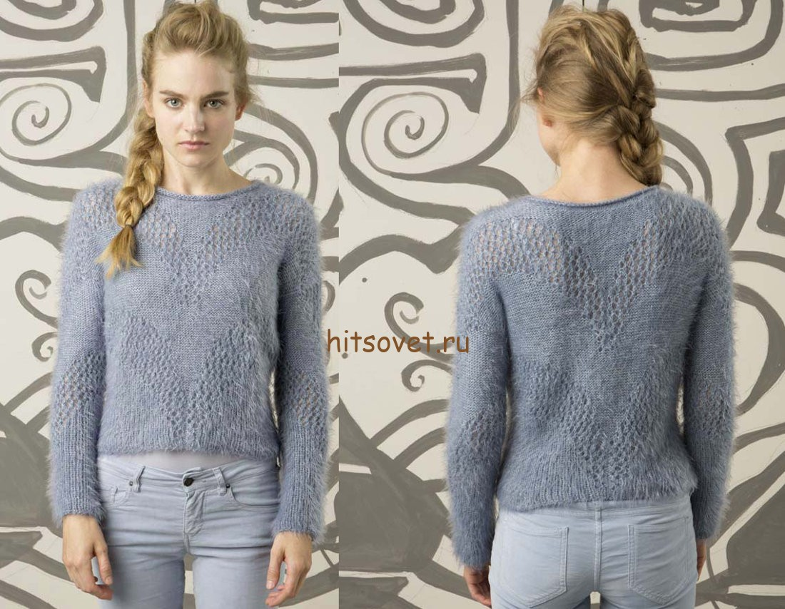 Красивый пуловер женский, фото 2.