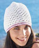 Летняя шапочка крючком для девочки, фото.