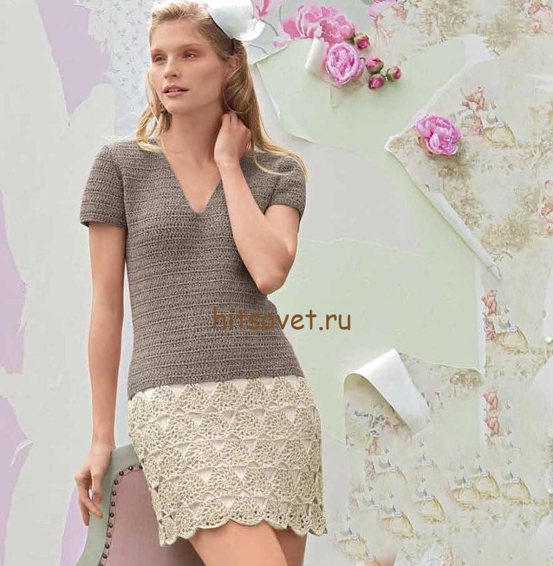 Платье крючком схемы и описание