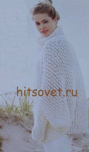 Вязание пуловера летучая мышь, фото 2.