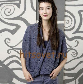 Пуловер с перекрученными полочками, фото.